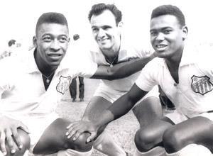 (Foto 3) Pelé, Pepe e Coutinho - Divulgação Santos FC