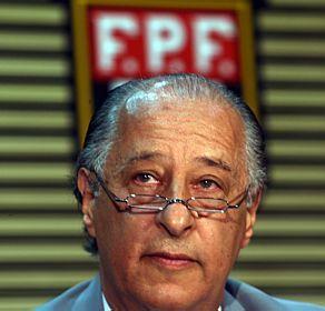 Marco Polo Del Nero, presidente da FPF, é um dos favoritos a se eleger presidente da CBF. Crédito - Agência Estado