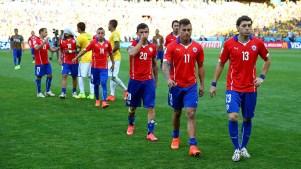 Chilenos em jogo contra o Brasil. Foto: Getty Images