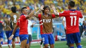 Vargas, Valdivia e Sanchez. Foto: Getty Images