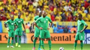 Costa do Marfim em jogo contra a Colômbia. Foto: Getty Images
