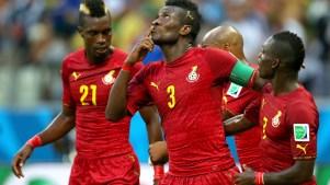 Seleção de Gana contra a Alemanha. Foto: Getty Images
