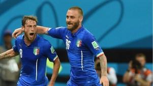 Claudio Marchisio e Daniele de Rossi. Foto: Getty Images