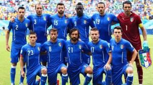 Toda a bela seleção italiana. Voltem, meninos! Foto: Getty Images
