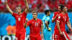Suíços comemoram vitória sobre Honduras. Foto: Getty Images