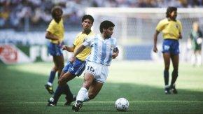 Maradona brilha e Argentina elimina o Brasil naCopa