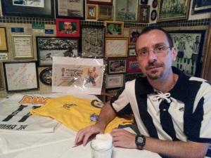 Chico Bicudo no evento de lançamento de 'Memórias de uma Copa no Brasil'